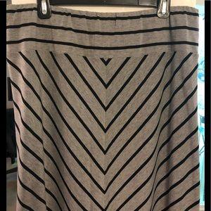 Gray & Black Maxi Skirt